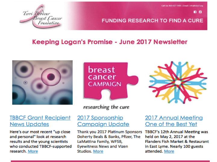 may june 2017 newsletter terri brodeur breast cancer foundation